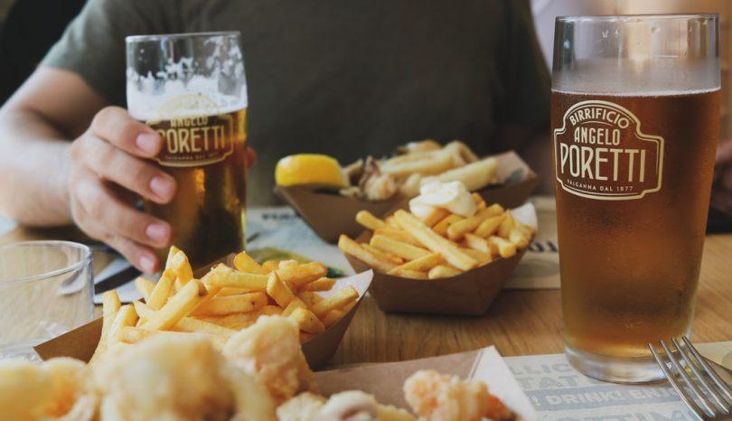 Matcha öl med mat